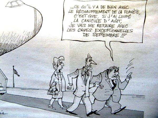 caricature canicule 2003