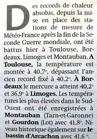 chaleur record en août 2003 météopassion