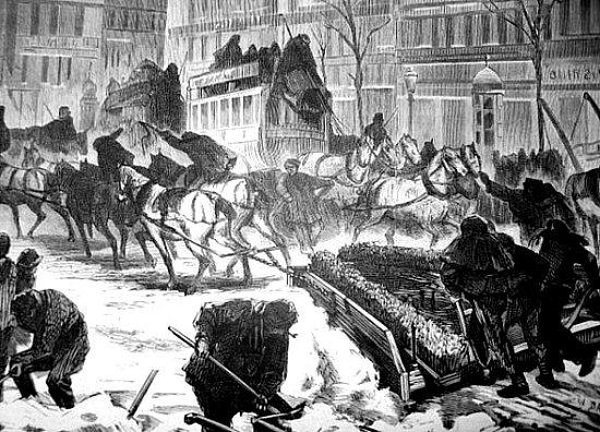 chasse neige Paris hiver 1881