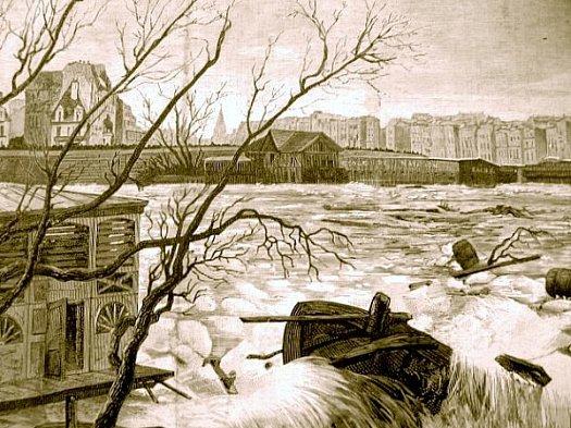 debacle de la Seine en janvier 1880