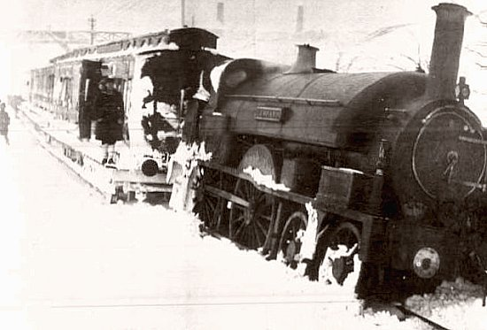 deraillement d`un train apres une tempete de neige en 1891