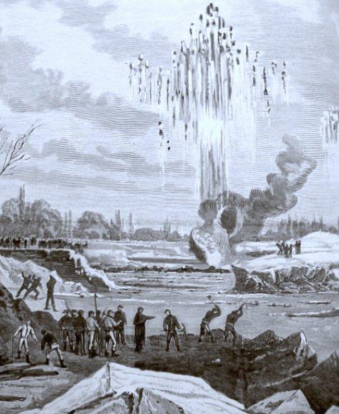 dynamitage sur la Loire decembre 1879