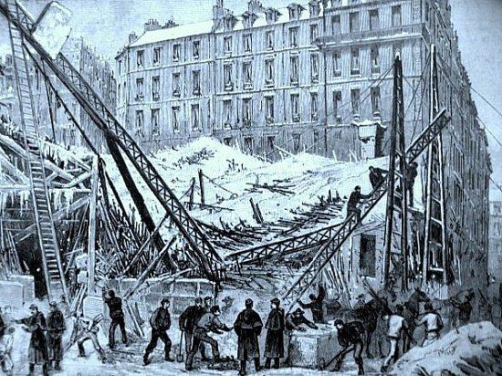 effondrement du marche rue du Chateau decembre 1879