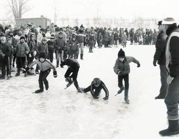 enfants Hollande hiver 1963