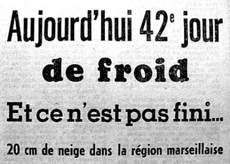 entête sur le 42ème jour de froid début février 63