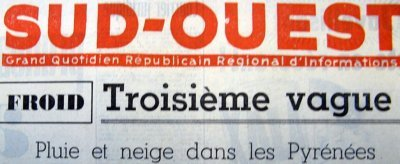 ent�te d`article sur la 3�me vague de froid f�vrier 63