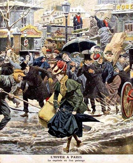 hiver a Paris en janvier 1907