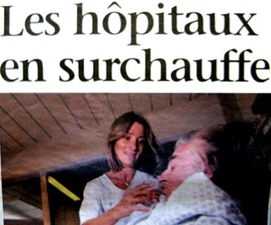 hopitaux en surchauffe aout 2003