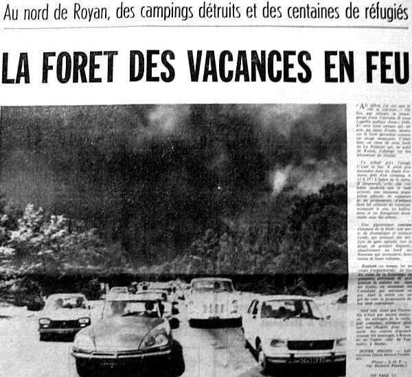 incendie a la Palmyre le 19 aout 1976