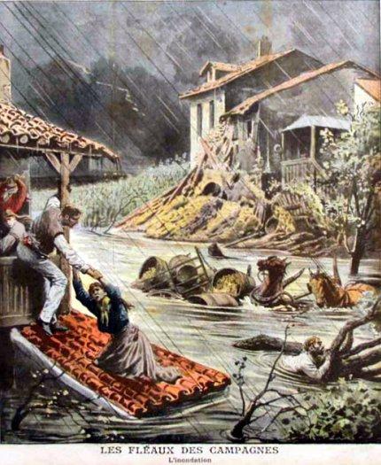 inondations dans le Midi en octobre 1907