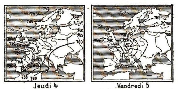 isobares des 4 et 5 decembre 1879