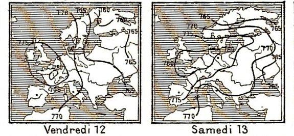 isobares des 12 et 13 decembre 1879