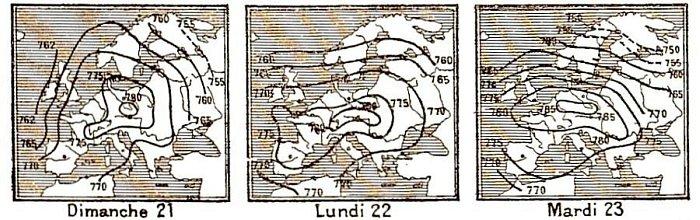 isobares du 21 au 23 decembre 1879