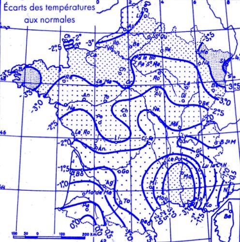 temperatures de janvier 1947