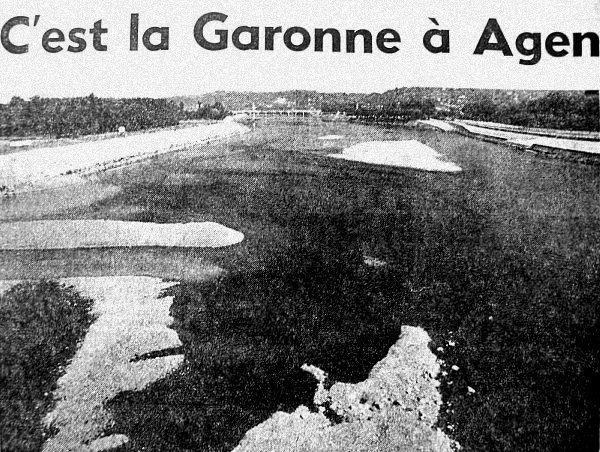 la garonne en juillet 76