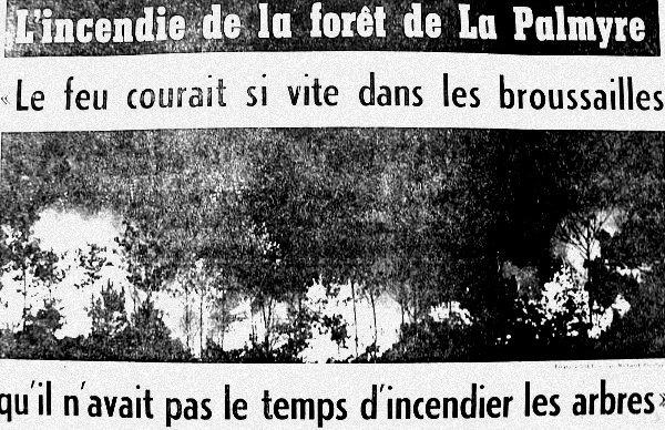 incendie de la Palmyre 19 aout 1976