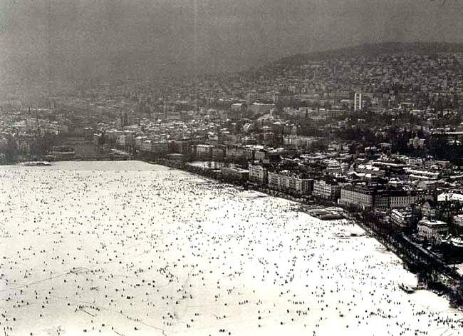 Lac de Zurich hiver 1962 1963