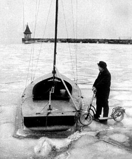 Lac Leman hiver 1962 1963
