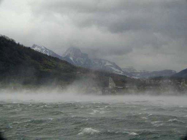 rafales sur lac alpin martin 1999