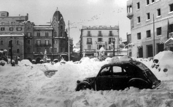 Chute de neige Manresa Catalogne decembre 1962
