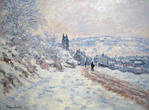 neige Vetheuil Claude Monet decembre 1879