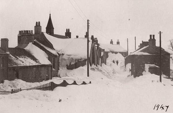 neige en Angleterre en janvier 1947