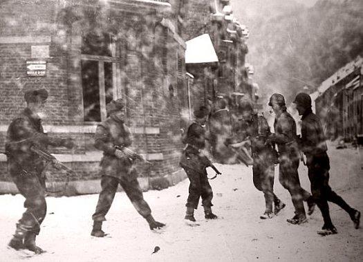 neige dans les Ardennes en janvier 1945