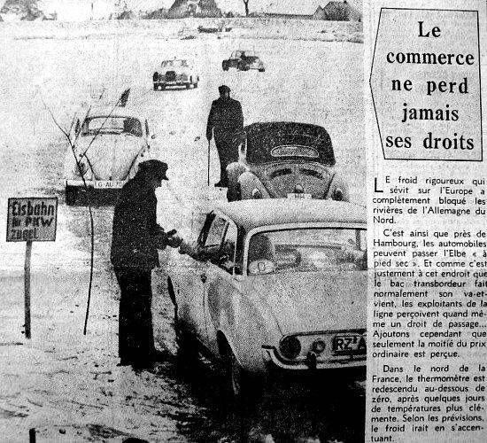 """péage """"fluvial"""" d`un nouveau genre février 1963"""