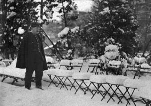 parc Monceau en janvier 1941