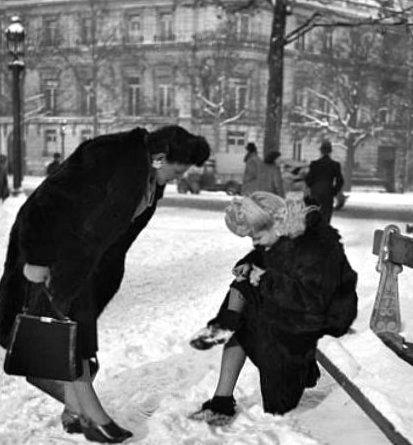 parisiennes en janvier 1945