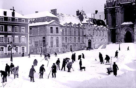 Neige sur Lisieux en 1895