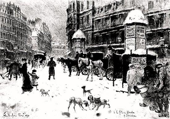 place Breda sous la neige le 8 decembre 1879