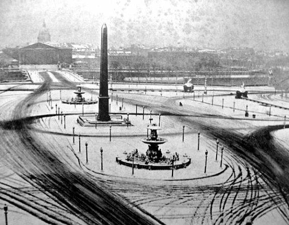 place de la Concorde en janvier 1941