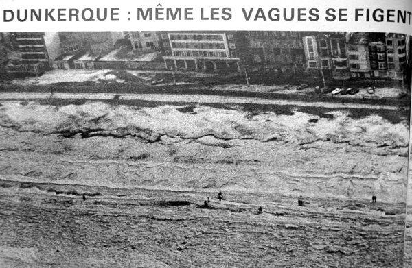 plages dunkerquoises fin janvier 1963