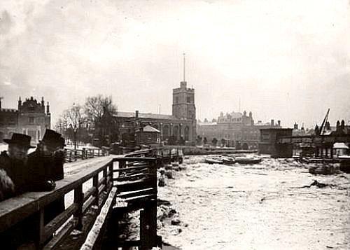 la Tamise gelee a Putney en 1881