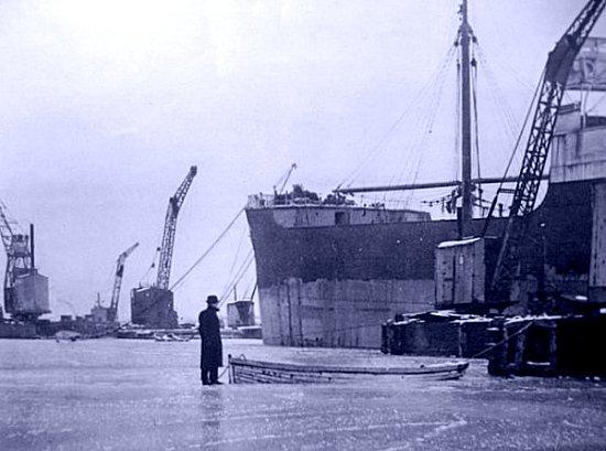 port de Rouen en janvier 1940