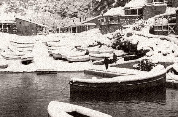 calanque de Sormiou neige fevrier 1956