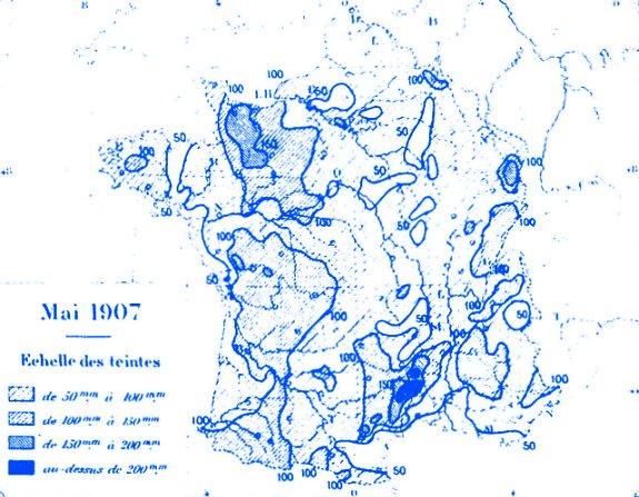 precipitations en mai 1907