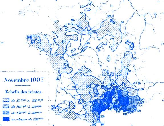 précipitations en novembre 1907