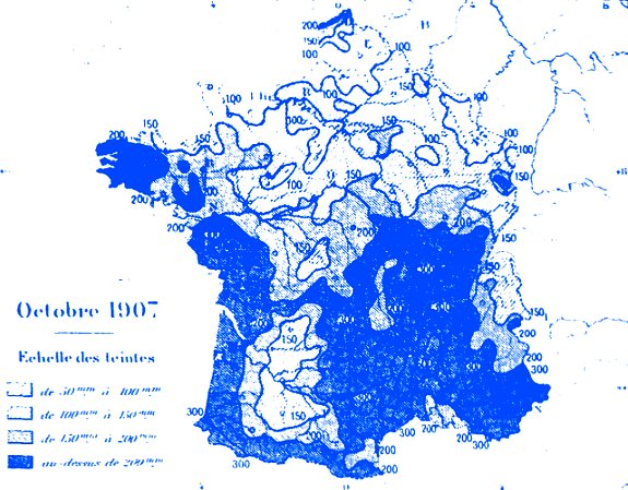 précipitations en octobre 1907