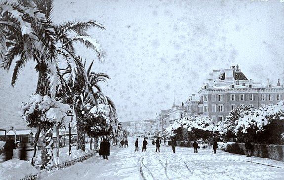 promenade des anglais a Nice durant l`hiver 1895