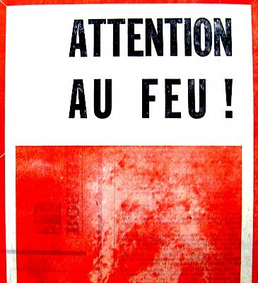 entete attention au feu
