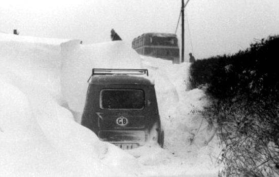 routes anglaises et congeres hiver 1962 1963