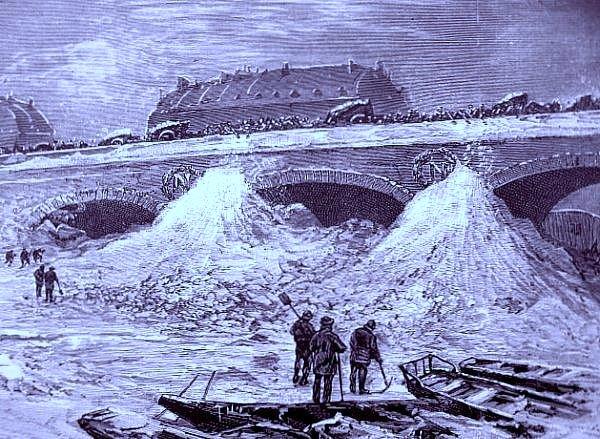 neige au pont Saint Michel