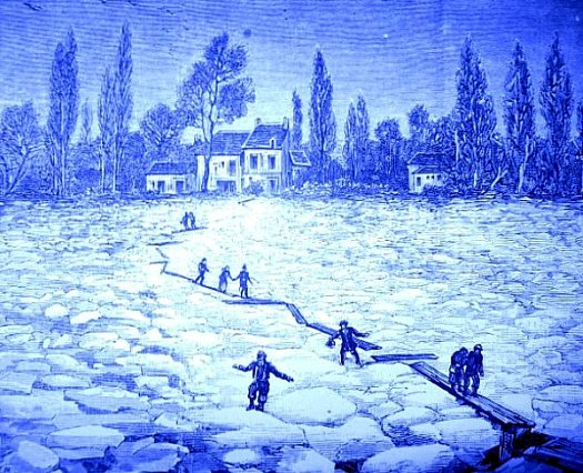 sauvetage des habitants de l`ile du Souzay decembre 1879