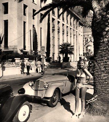 starlette au premier Festival de Cannes en Octobre 1946