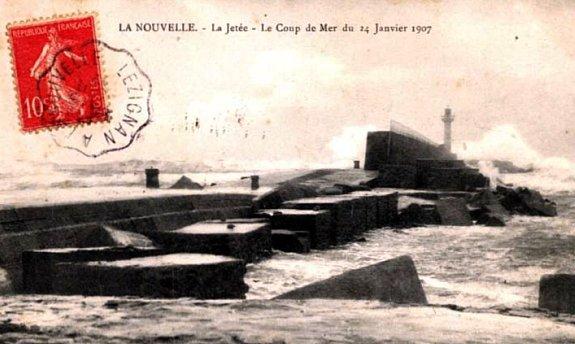 tempete en Mediterranee en janvier 1907