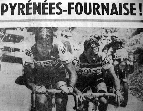 Tour de France dans les Pyrenees le 10 juillet 76